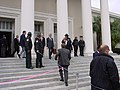 People leaving the Florida Supreme Court building during the 2000 presidential election vote dispute.jpg