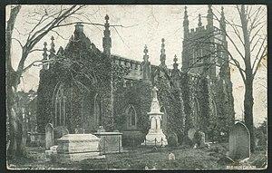 Urban District of Perry Barr - Postcard of St John the Evangelist parish church, taken circa 1904