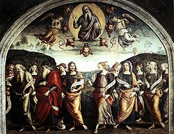 Pietro Perugino: The Almighty with Prophets and Sybils