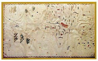 Biblioteca Oliveriana, Pesaro - Pesaro Planisphere (map from 1504-1508 with new world)