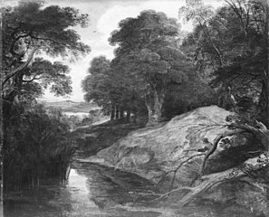 Landscape with Huntsman and Stags