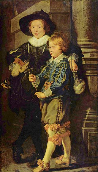 Albert Rubens - Albert and his younger brother Nicolaas, by Peter Paul Rubens