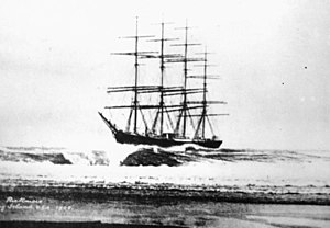 Fire Island - German full-rigged ship Peter Rickmers aground on Fire Island, April 30, 1908