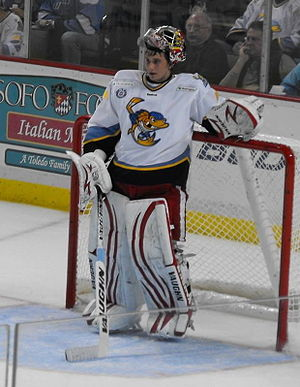 Petr Mrázek - Mrazek with Toledo Walleye early in 2012–13 season