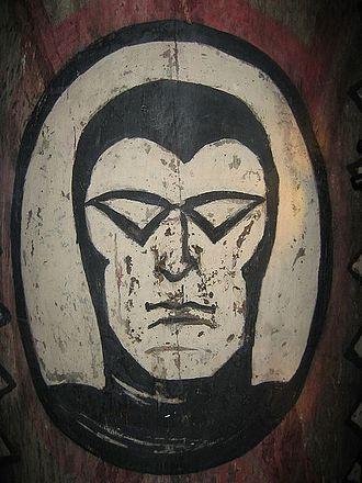 The Phantom - Photo of Phantom on shield
