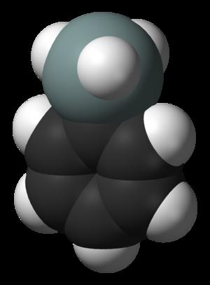 Phenylsilane - Image: Phenylsilane 3D vd W