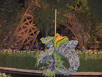 Philadelphia Flower Show - Image: Philadelphia Flower Show 2011 Dolphin Eiffel Tower HPIM4368