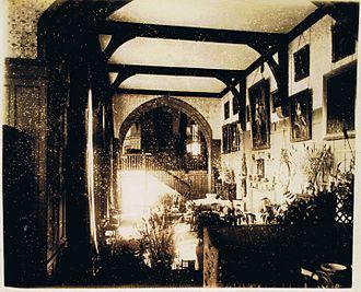Loton Park - A photograph of the hall, circa 1870.