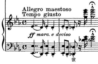 Piano Concerto No. 1 (Liszt) - The main theme of the first movement