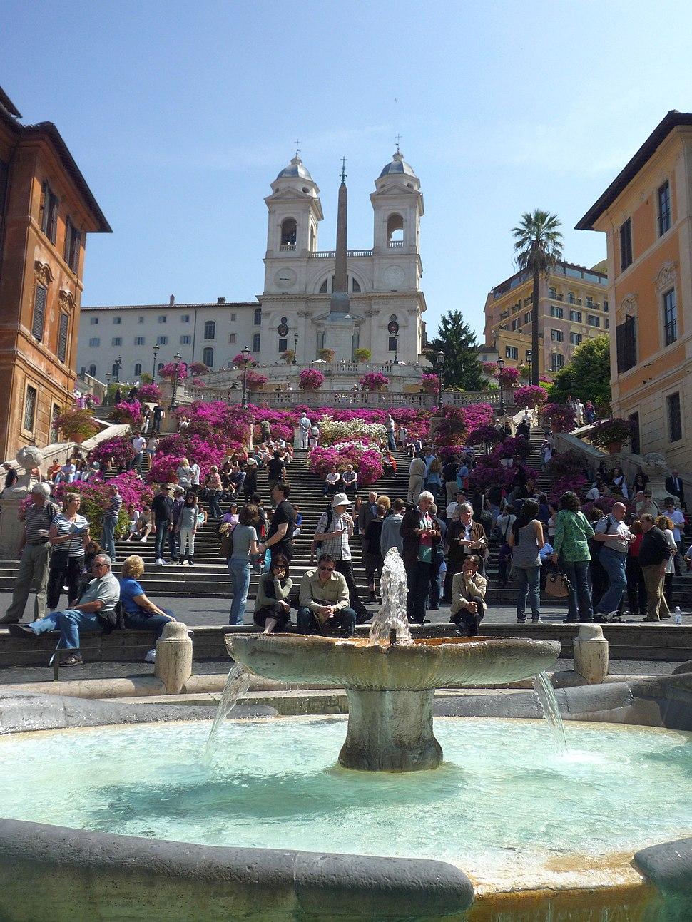 Piazza di Spagna, Roma - scalinata fc03