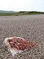 Piece of masonry on shingle beach - geograph.org.uk - 826351.jpg