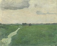Piet Mondriaan - Polder landscape with irrigation ditch - A219 - Piet Mondrian, catalogue raisonné.jpg