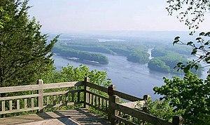 Pikes Peak State Park - Observation platform overlooking the Mississippi River