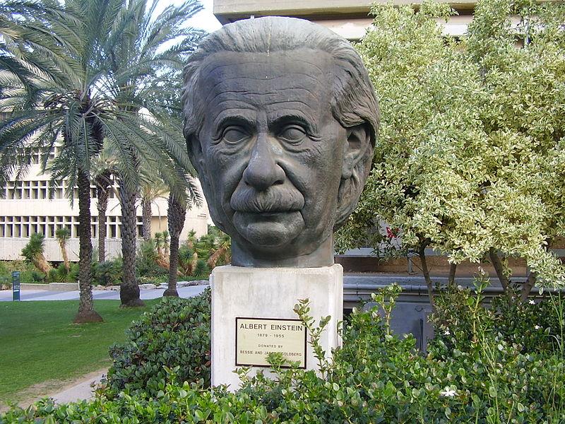 פסל של אלברט איינשטיין
