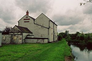Mansfield and Pinxton Railway - Pinxton Wharf. Tickets to travel on the railway could be bought at the Boat Inn