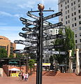 Pioneer Courthouse Square mile post sign.jpg
