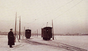 Trams in Saint Petersburg - Image: Piter ice tram