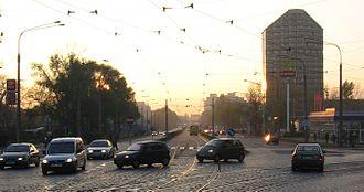 Plac Grunwaldzki, Wrocław - Grunwaldzki Square in 2005