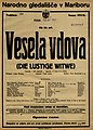 Plakat za predstavo Vesela vdova v Narodnem gledališču v Mariboru 19. marca 1926.jpg