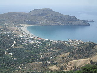 Plakias - View of Plakias bay