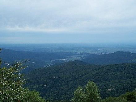 Vista della pianura friulana dal Rifugio Pelizzo