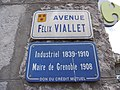 Plaque de l'avenue Félix Viallet à Grenoble.jpg