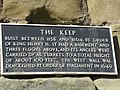 Plaque on the wall of the Keep, Scarborough Castle - geograph.org.uk - 1778233.jpg