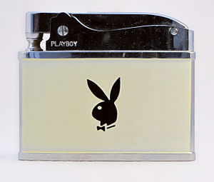 Playboy - A Playboy cigarette lighter with the distinctive rabbit logo