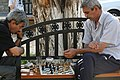 Playing chess in baku Old City.jpg