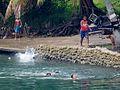 Playing in the River Sarakata (31408329645).jpg