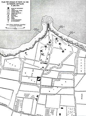 Leonard Lomell - Plan for Assault on Pointe du Hoc, June 6, 1944