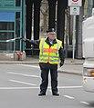 Polizist im Einsatz mit Verkehrsstab 1 - zoom.jpg