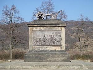 Stadice - Image: Pomník Přemysla Oráče