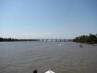Jacuí River - The Jacuí River near Porto Alegre