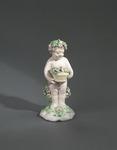 Porslin. Figurin - Putti med blommor - Hallwylska museet - 89292.tif