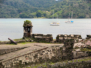 Ruins and Bay at Portobelo, Panama