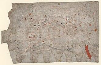Guillem Soler - Portolan chart of Guillem Soler, c. 1380 (BNF, Paris)