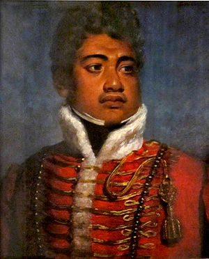 Kamehameha II - Image: Portrait of King Kamehameha II of Hawaii attributed to John Hayter