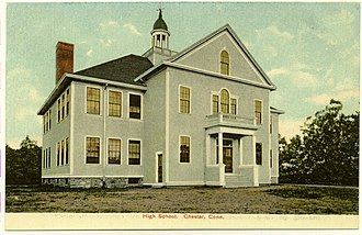 Chester, Connecticut - Image: Postcard Chester Ct High School 1906to 1916