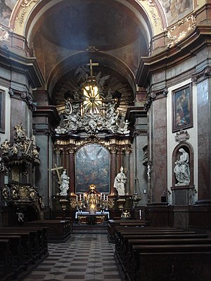 Jean Baptiste Mathey - Altar of the church St Francis Seraphin in Old Town, Prague by Jean Baptiste Mathey