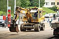 Praha, Řepy, Makovského, rekonstrukce tramvajové trati, příprava k odstranění kolejnice.JPG
