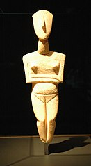 pregnant Cycladic figurine Getty Villa 90.AA.114