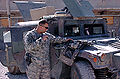 Preparing gear prior to a patrol at Towr Kham Fire Base, Afghanistan.jpg