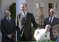 President George H. W. Bush Participates in the Presentation and Pardoning of the National Thanksgiving Turkey.jpg