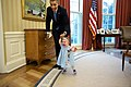 President Obama and one-year-old Lincoln Rose Smith in the Oval Office.jpg