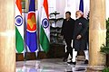 President Rodrigo Roa Duterte is accompanied by Indian Prime Minister Narendra Modi prior to the start of the bilateral meeting at the Hyderabad House in New Delhi.jpg