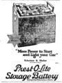 Prestolite storage battery ad The Wingham Advance, 1921-04-14, Page 5.png