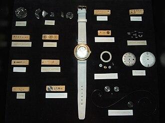 Mechanical watch - Mechanical wrist watch disassembled