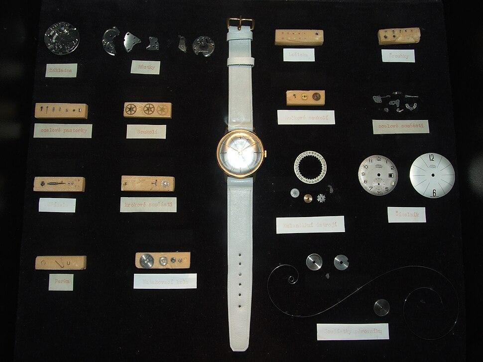 Prim mechanical wrist watch disassembled whole