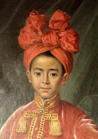 Nguyễn Phúc Cảnh - Close-up of Nguyễn Phúc Cảnh, at the age of seven, in Paris, France. Painting in 1787 by Maupérin, located at the Paris Foreign Missions Society.
